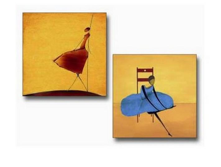 Dining Room Wall Art, Canvas Painting, Ballet Dancer Art, Abstract Art, Abstract Painting, Modern Art, Hand Painted Art - Silvia Home Craft