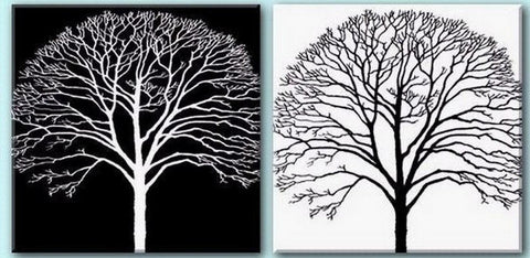 Tree Painting, Black and White Art, Abstract Art, Abstract Painting, Wall Art, Wall Hanging, Dining Room Wall Art, Modern Art, Hand Painted Art - Silvia Home Craft
