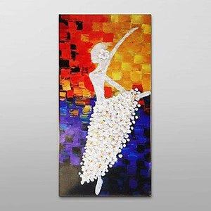 Bedroom Wall Art, Abstract Art, Modern Art, Ballet Dancer Painting, Art for Sale - Silvia Home Craft