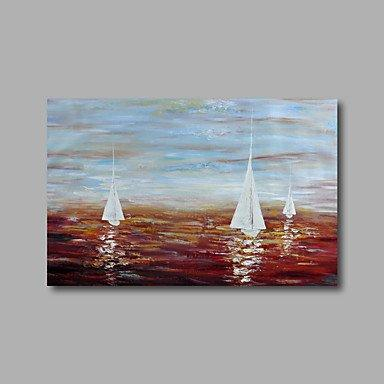 Sail Boat Painting, Canvas Painting, Wall Art Decor, Abstract Art, Canvas Wall Art, Art on Canvas - Silvia Home Craft