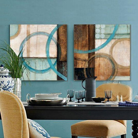 Canvas Painting, Abstract Art Painting, Dining Room Wall Art, Wall Hanging, Hand Painted Art - Silvia Home Craft
