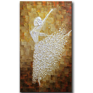 Contemporary Artwork, Abstract Art, Modern Art, Ballet Dancer Painting, Art for Sale - Silvia Home Craft