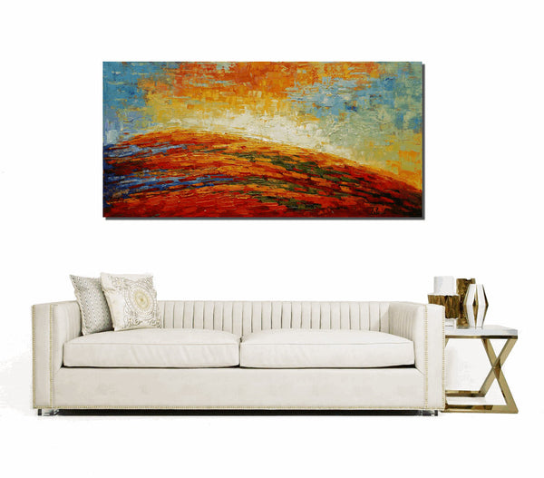 Abstract Art, Oil Painting, Dining Room Canvas Painting, Original Painting