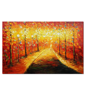 Landscape Painting, Autumn Forest Painting, Canvas Wall Art, Canvas Painting