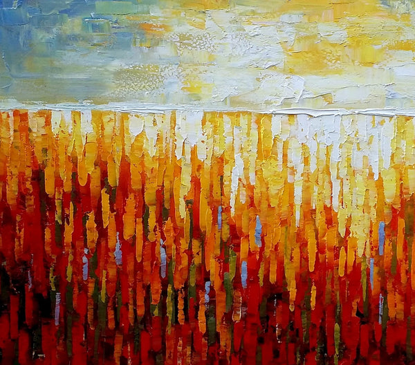 Large Wall Art, Heavy Texture Canvas Painting, Oil Painting, Original Abstract Art