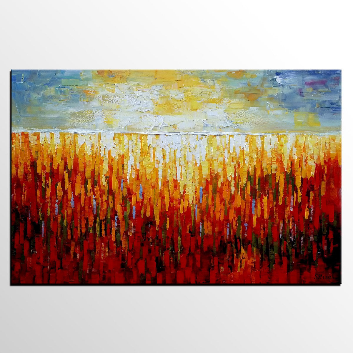 Large Wall Art, Heavy Texture Canvas Painting, Oil Painting, Original Abstract Art - Silvia Home Craft