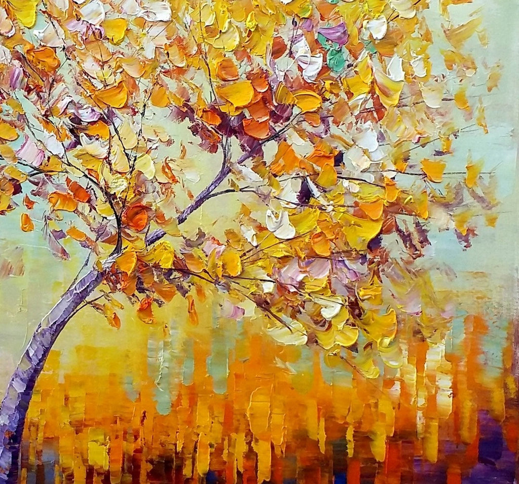 Canvas Painting, Oil Painting, Tree Painting, Large Painting ...