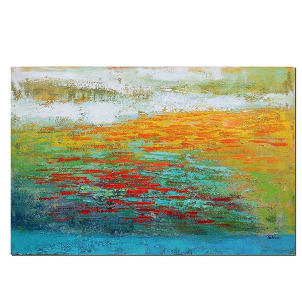 Large Abstract Art, Original Painting, Heavy Texture Art, Canvas Painting - Silvia Home Craft