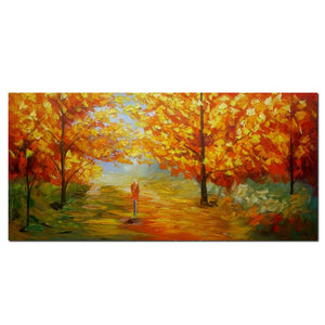 Landscape Painting, Original Wall Art, Canvas Painting, Autumn Tree Painting