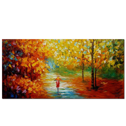 Forest Path Painting, Original Oil Painting, Wall Hainting, Art on Canvas