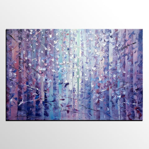 Landscape Painting, Canvas Wall Art, Large Painting, Painting, Forest Tree Art