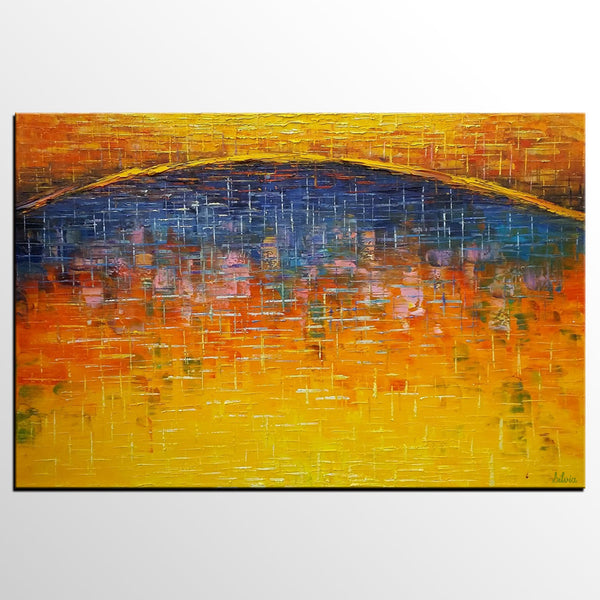 Canvas Art, Abstract Art Painting, Large Oil Painting Living Room Wall Art - Silvia Home Craft