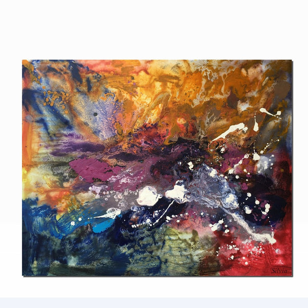 Canvas Painting for Bedroom, Contemporary Abstract Art, Modern Abstract Art - Silvia Home Craft