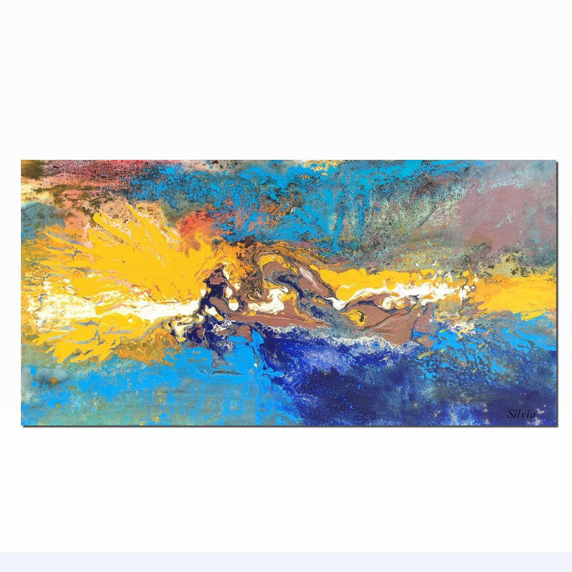 Abstract Art, Canvas Wall Art, Living Room Wall Art, Large Canvas Painting