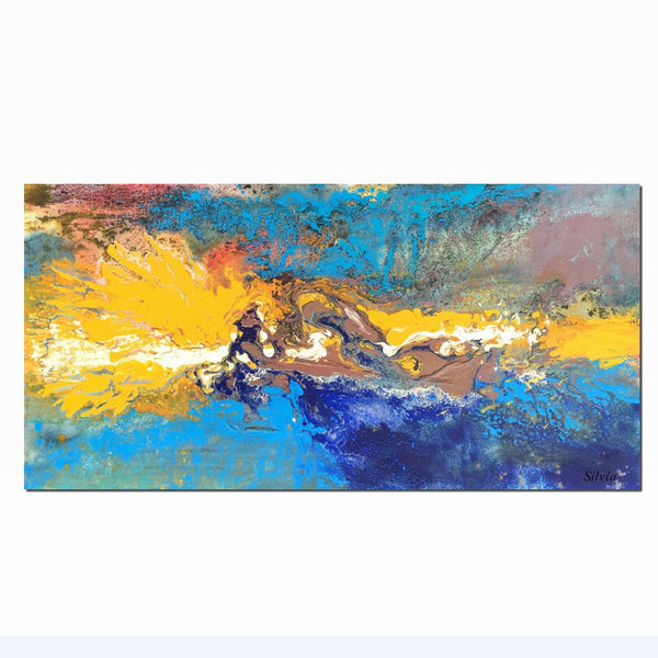 Abstract Art, Canvas Wall Art, Living Room Wall Art, Large Canvas Painting - Silvia Home Craft