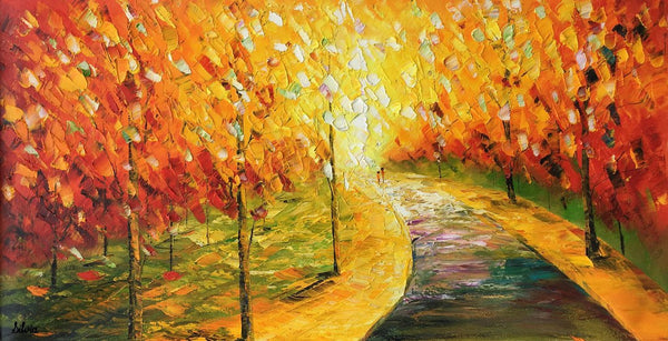 Autumn Tree Art, Original Painting, Oil Painting, Canvas Painting, Landscape Painting