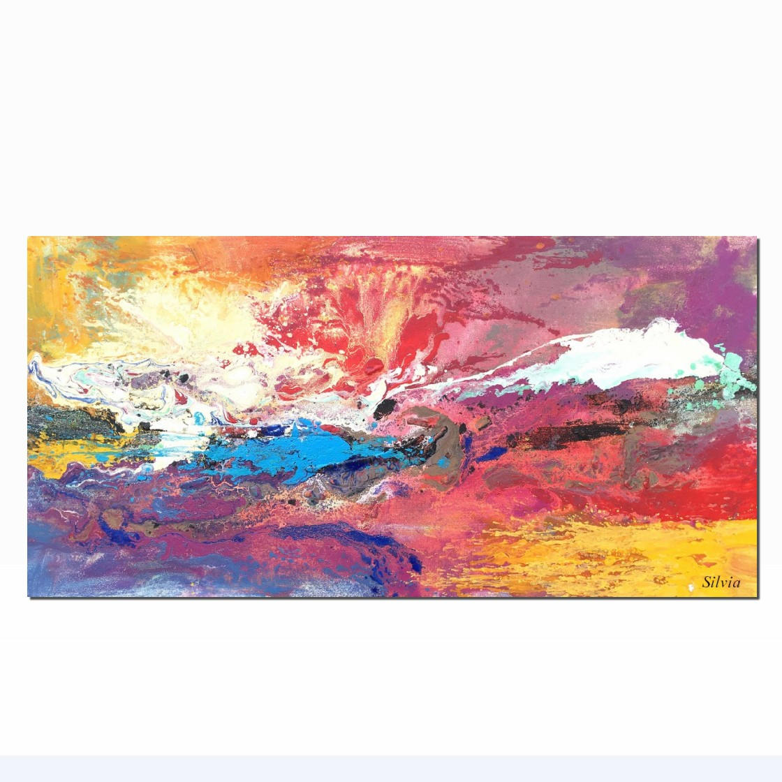 Abstract Art Painting, Large Original Painting, Abstract Landscape Painting - Silvia Home Craft