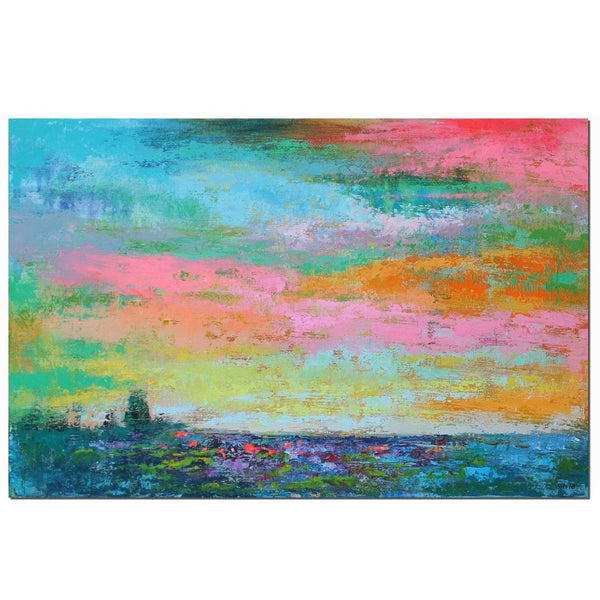 Canvas Wall Art, Large Abstract Art, Original Painting, Bedroom Wall Art