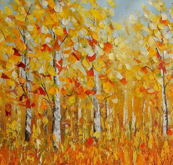 Autumn Landscape Painting, Original Painting, Canvas Wall Art, Large Canvas Art - Silvia Home Craft