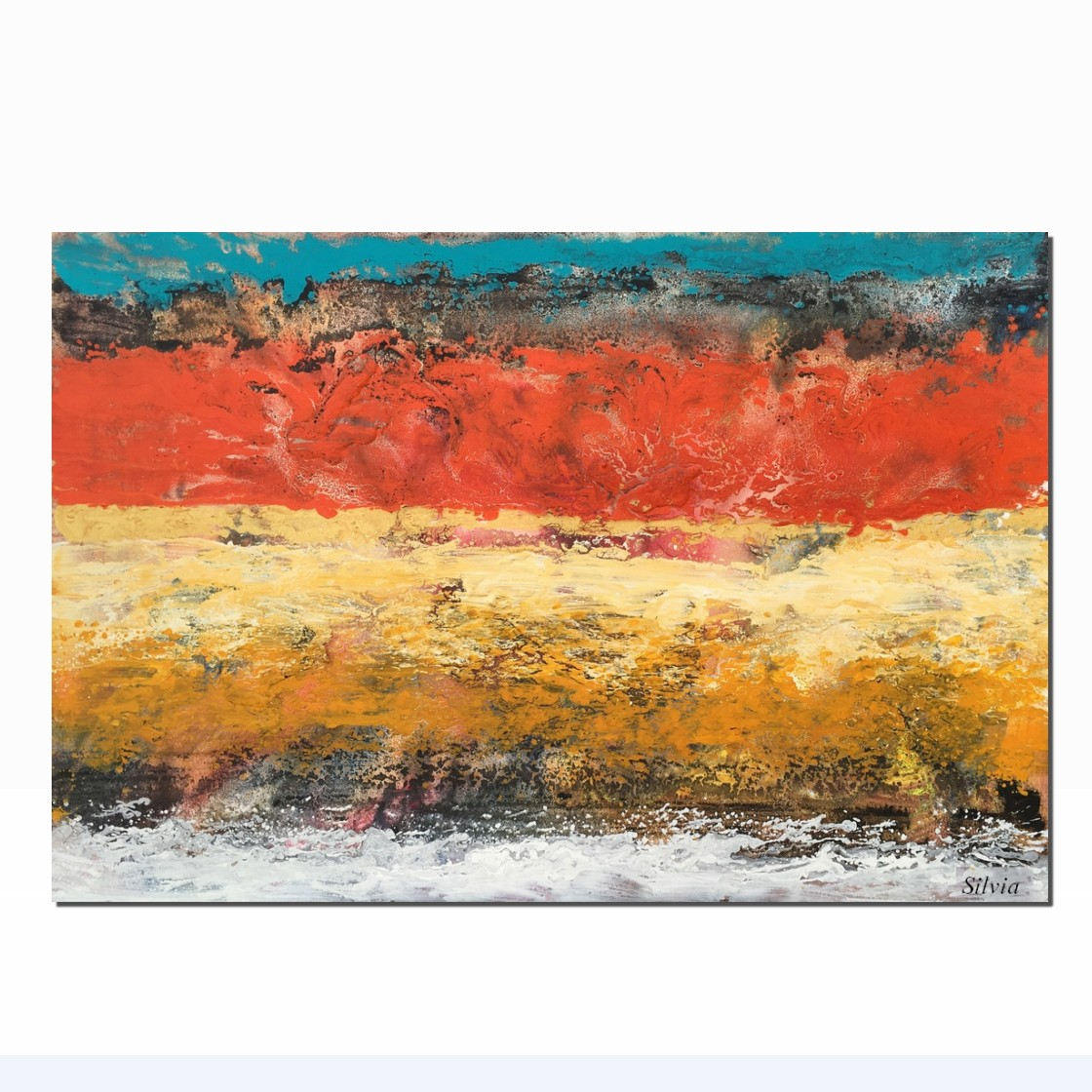 Abstract Wall Art, Large Abstract Painting, Acrylic Painting, Living Room Canvas Art - Silvia Home Craft