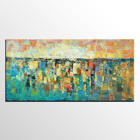 Abstract Painting, Canvas Art Painting, Oil Painting, Original Painting, Impasto Painting - Silvia Home Craft