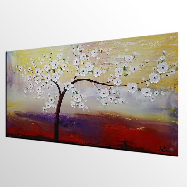 Flower Painting, Original Painting, Acrylic Wall Art, Abstract Art for Kitchen - Silvia Home Craft