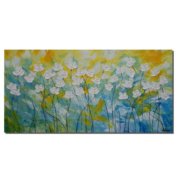 Flower Painting, Original Painting, Acrylic Painting, Kitchen Canvas Art - Silvia Home Craft