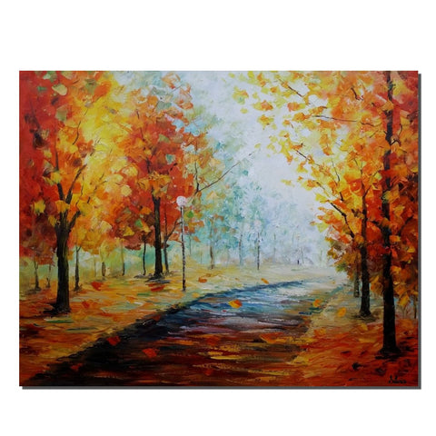 Large Canvas Art, Wall Art for Bedroom, Landscape Painting, Autumn Painting