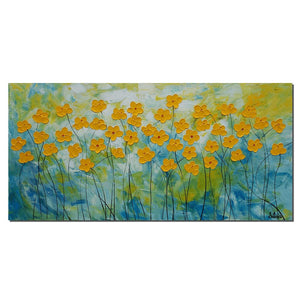 Flower Painting, Original Acrylic Painting, Canvas Artwork