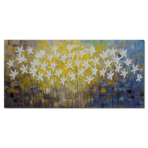 Canvas Art, Abstract Wall Art, Large Painting, Flower Painting, Original Painting