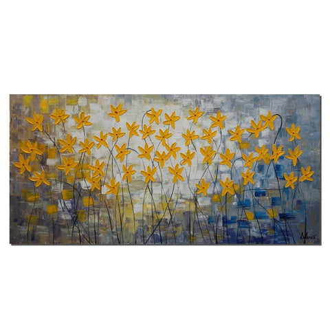 Flower Painting, Original Acrylic Painting, Canvas Art, Large Painting