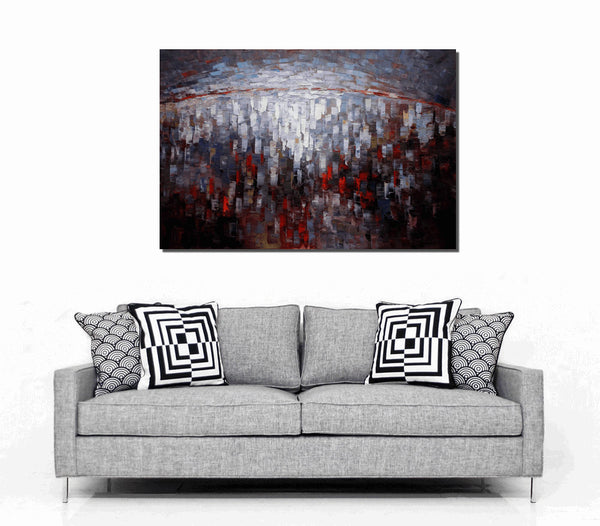Large Wall Art, Canvas Painting, Modern Abstract Art, Original Oil Painting - Silvia Home Craft