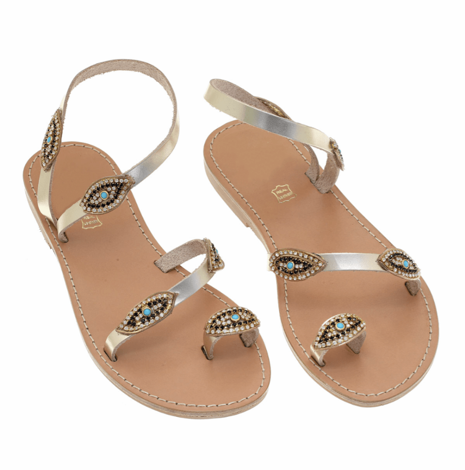 muska Gold / EU-38 | US-7 Mati Sandals