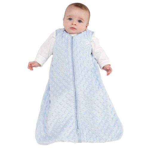 Angel Baby~ HALO SleepSack Plush Dot Velboa Wearable Blanket, Blue, Medium~ Scantily33x - Scantily33x