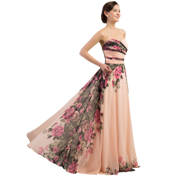 Women's~Floral Chiffon Evening Gown~ - Scantily33x