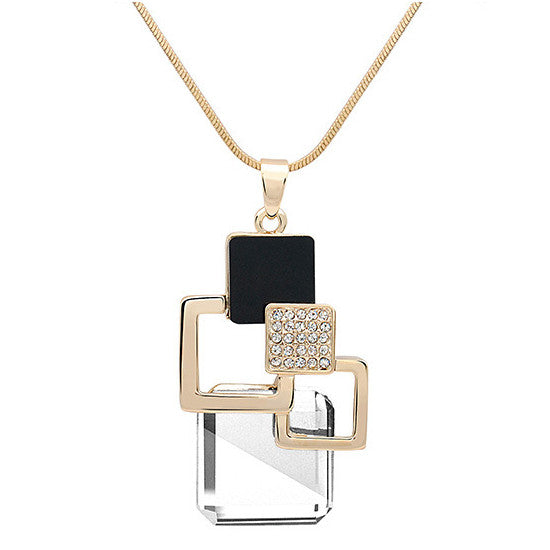Pendant Necklace~Beautiful Geometric Crystal Pendant Necklace~Scantily33x - Scantily33x