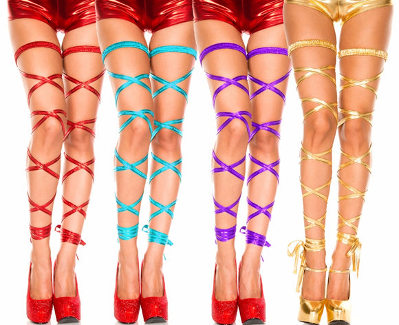 Lingerie~HOT!!  Metallic Leg Wraps~Scantily33x - Scantily33x