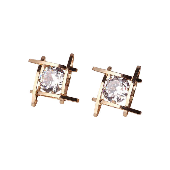 Earrings~Lovely Classic Rhinestone Diamond Stud Earrings~Scantily33x - Scantily33x