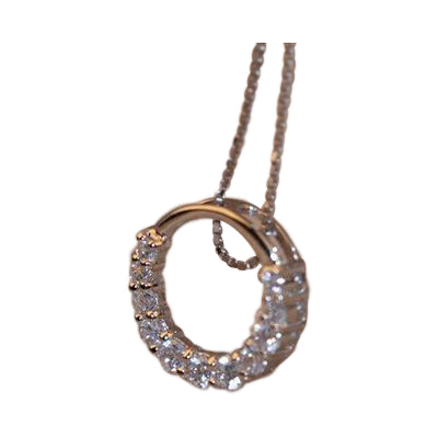 Pendant Necklace~ Cubic Zirconia 'Bling