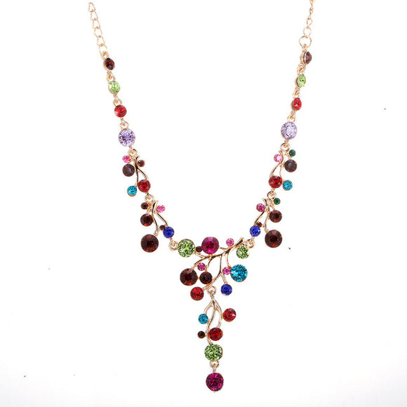 Necklace~ Women's, Colorful Crystal Statement Necklace~Scantily33x - Scantily33x