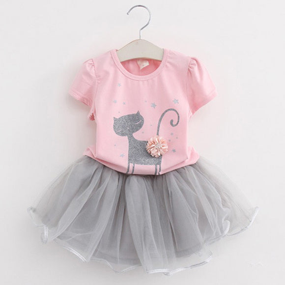 Girl's~ 2-7 Years Super Sweet Casual Style Skirt & Shirt Set! ~Scantily33x - Scantily33x
