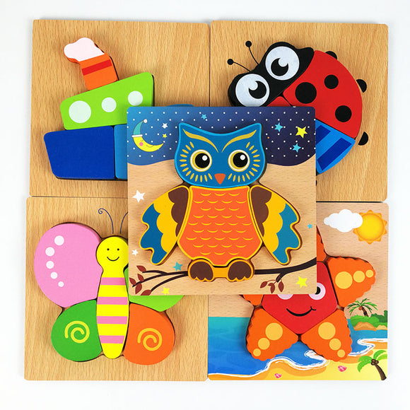 Wooden Toys~ Cute Educational Wooden Puzzles - Scantily33x