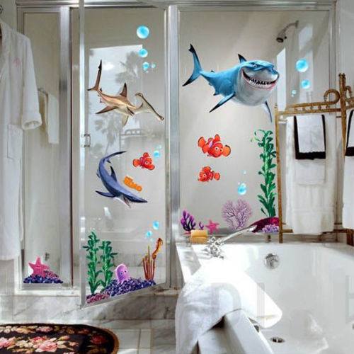 Home & Garden Decor~3D Cartoon Nemo Waterproof  Removable Vinyl Wall Decals~Scantily33x - Scantily33x
