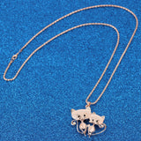 Pendant Necklace* Two Cats For The Price Of One!~Scantily33x - Scantily33x