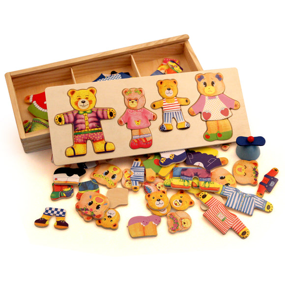 Wooden Toys~ Wooden Jigsaw Puzzle Dressing Game - Scantily33x