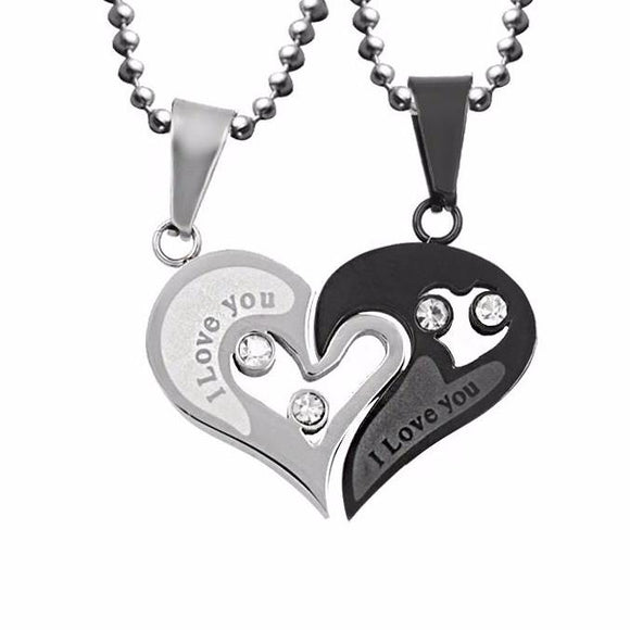 Her's & His Pendant Heart Necklace~Scantily33x - Scantily33x