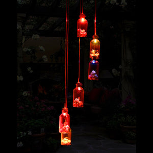 Home & Garden Decor~ Solar Panel, Wind Chime Changing Color Lights~Scantily33x - Scantily33x