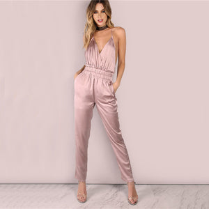 Women's Wear~ Elegant Satin Jumpsuit For The Bold - Scantily33x