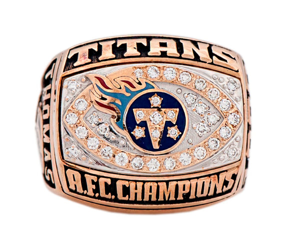 Sports Fan~ 1999 Tennessee Titans Championship Ring Size 11 Only~Scantily33x - Scantily33x