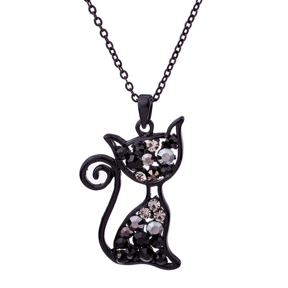 Pendant Necklace~Sparkly Cat Pendant Necklace~Scantily33x - Scantily33x